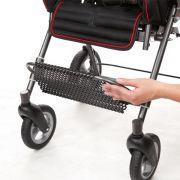 Abklappbare Fußstütze für leichtes Ein- und Aussteigen