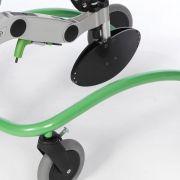 Beintrennplatte verhindert das Überkreuzen der Beine